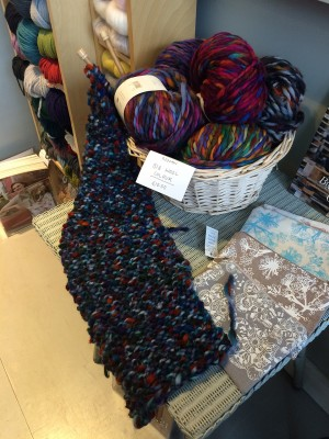 Rowan Big Wool knitted in a glorious scarf.