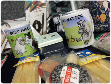 Black Sheep Wools mugs - I wanted the one of the sheep knitting himself up, it was cute!