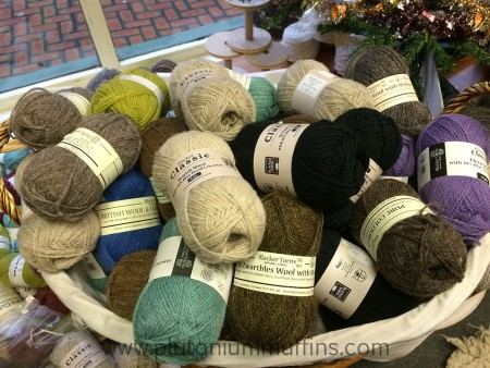 A big ole pile of Blacker Yarns in Country Crafts.