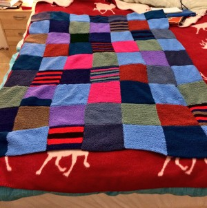 A completed patchwork blanket!