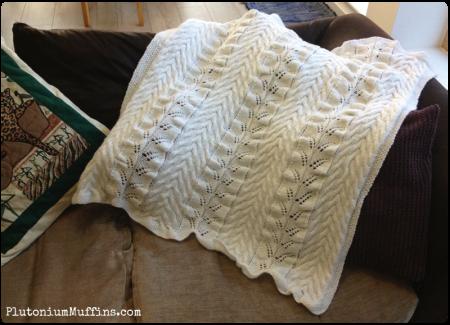 Blanket on a sofa...