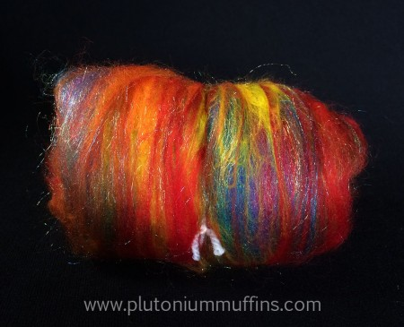 Some blazing rainbows fibre ready for spinning, felting and whatever else you want to have a go at!