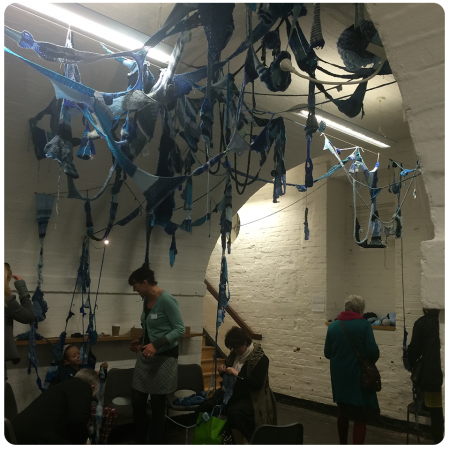 The Blue Jumper installation by  Sarah Filmer.