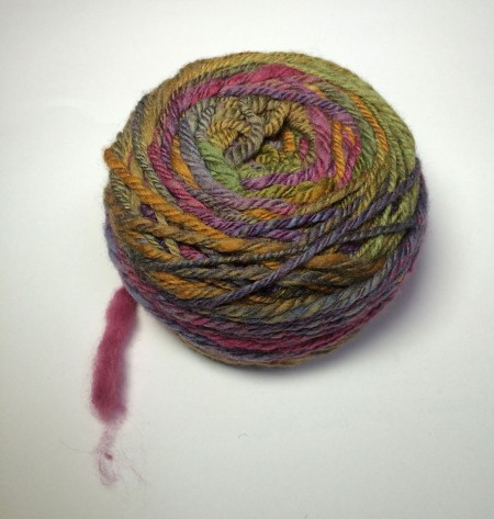A full cake of gorgeous yarn!