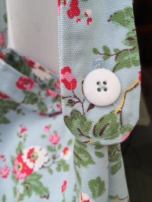 Button hole on the strap.
