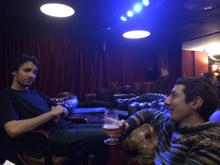Chilling in the Roxy Bar.