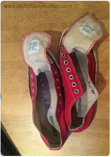 An old pair of Converse before treatment.