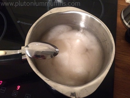 Cooking my fibre in a vinegar solution.