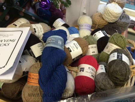More Cornish Tin, nesting on a bed of more gorgeous Blacker yarns.