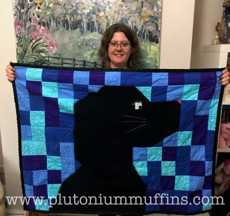 Proud me with my first ever quilt!