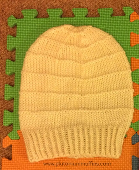 The cream ('natural') slouchy hat.