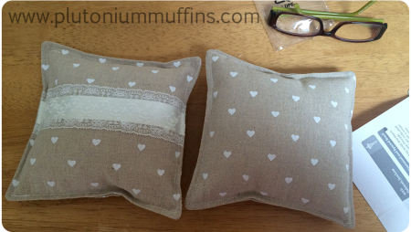 The first cushions I made, which I didn't like very much...