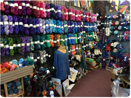 The full range of beautiful Debonnaire yarn.