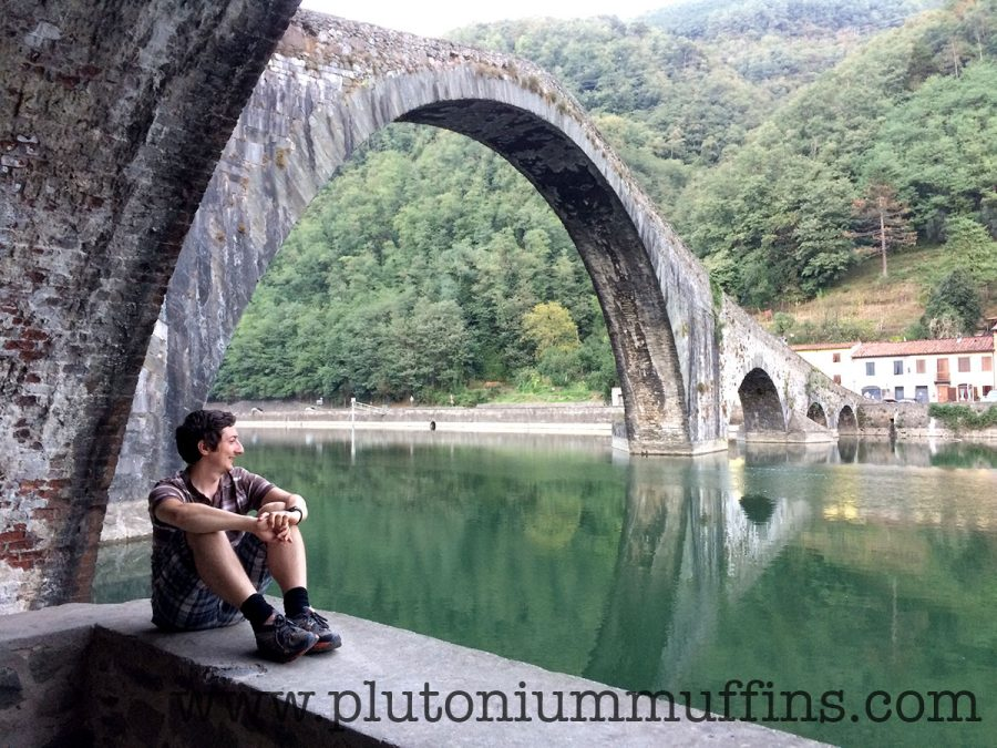 John at the Devil's Bridge, somewhere that was truly difficult to get to!