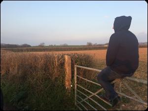 Watching the sunset in Devon.
