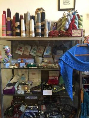 Magic cabinet of knitting wonder in Loop.