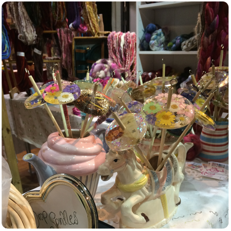 Spindles at Spin City - at the beginning of Sunday; they sold out by the end of the day.