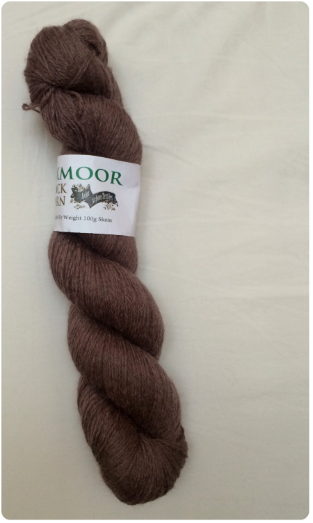 Exmoor Sock Yarn in gorgeous smoke colourway.