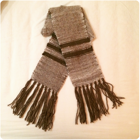 My first ever woven scarf.