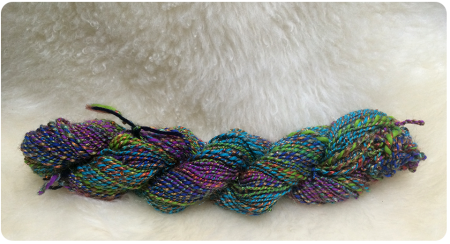 The rainbow yarn is ridiculously soft and pretty.