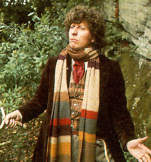 Tom Baker as the Fourth Doctor (image from the BBC)