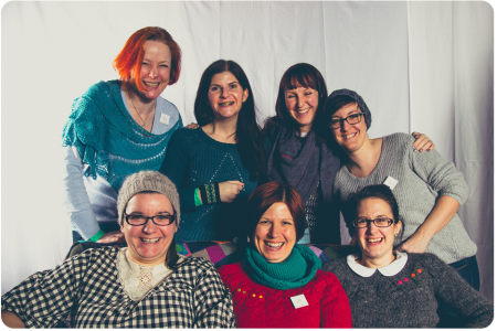 The wonderful friends I made at Edinburgh Yarn Festival (photo from the pop-up studio)
