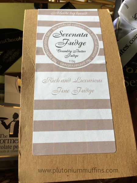 Serenata Fudge in the hamper.