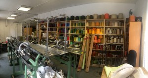 A panorama of the full East London Knit studio.