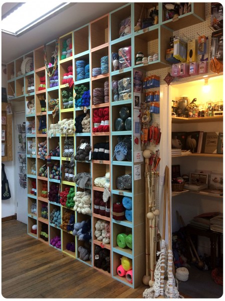 My favourite shot in any shop - the yarn wall!