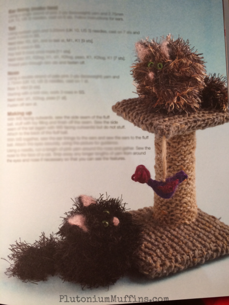 Furballs with an accessory you can make from the book!
