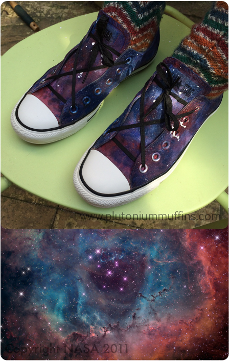 Comparison picture - Converse and the Rosette Nebula.