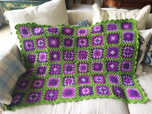 The completed Granny Squares Galore project