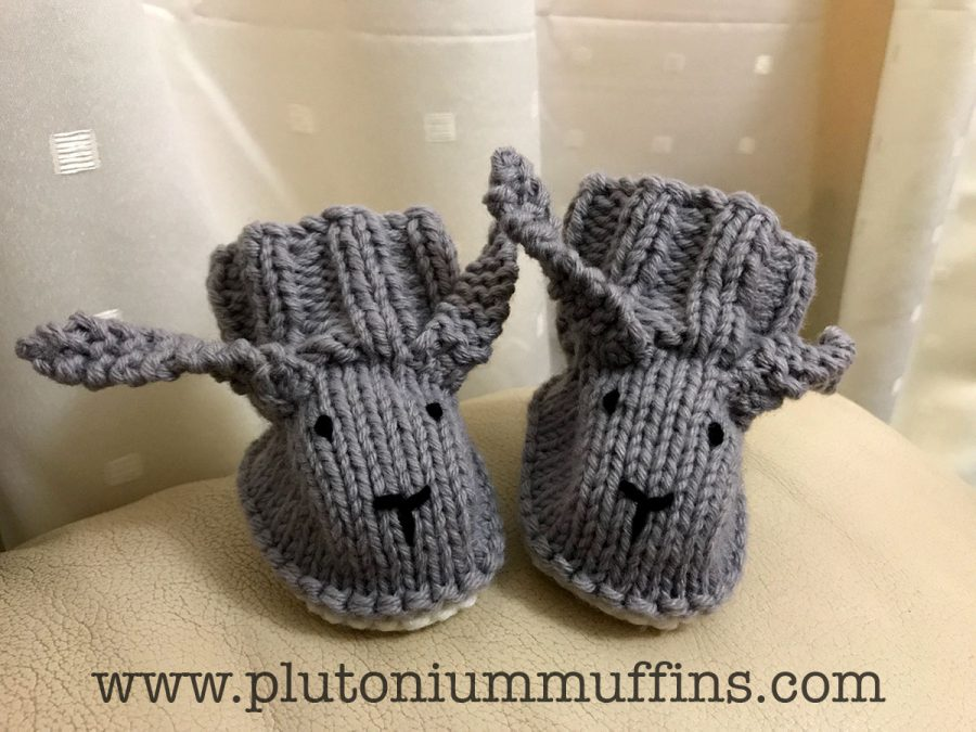 Grey bootees, second pair and a bit better put together!