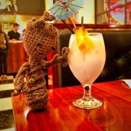 Groot likes piña coladas!