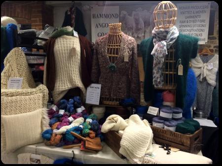The Hammond Mohair Goats display.