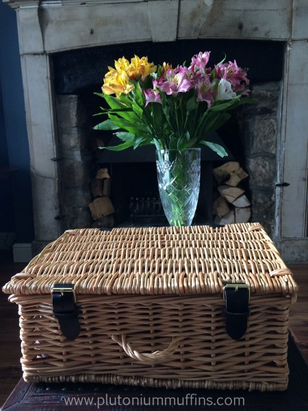 My Serenata chocolate hamper, ready and waiting to be opened.