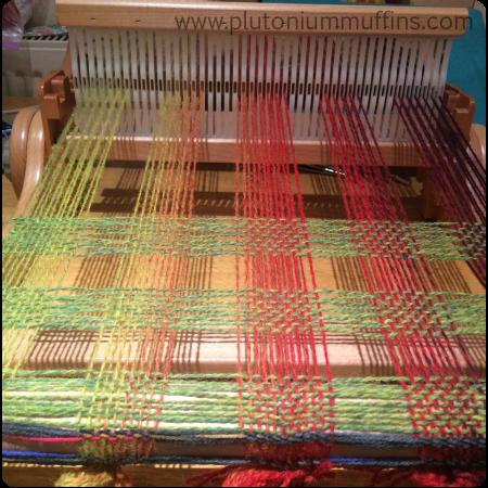 Finally! Some in-progress weaving.