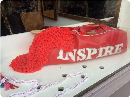 Another close-up of the window display. Inspire! Love this.
