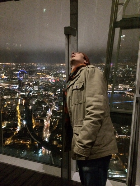 JS looking towards the top of the Shard.