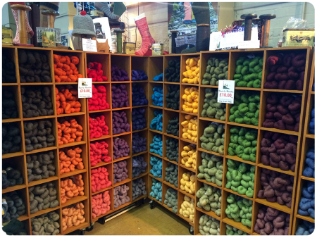 Gradients of colour on the John Arbon stall. I talked about this display in the first ever podcast, and think about it -all- the time. This photo taken at Unravel 2015, after a year of waiting!