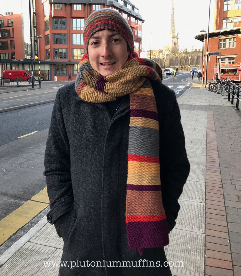 John wearing his scarf for the first time!