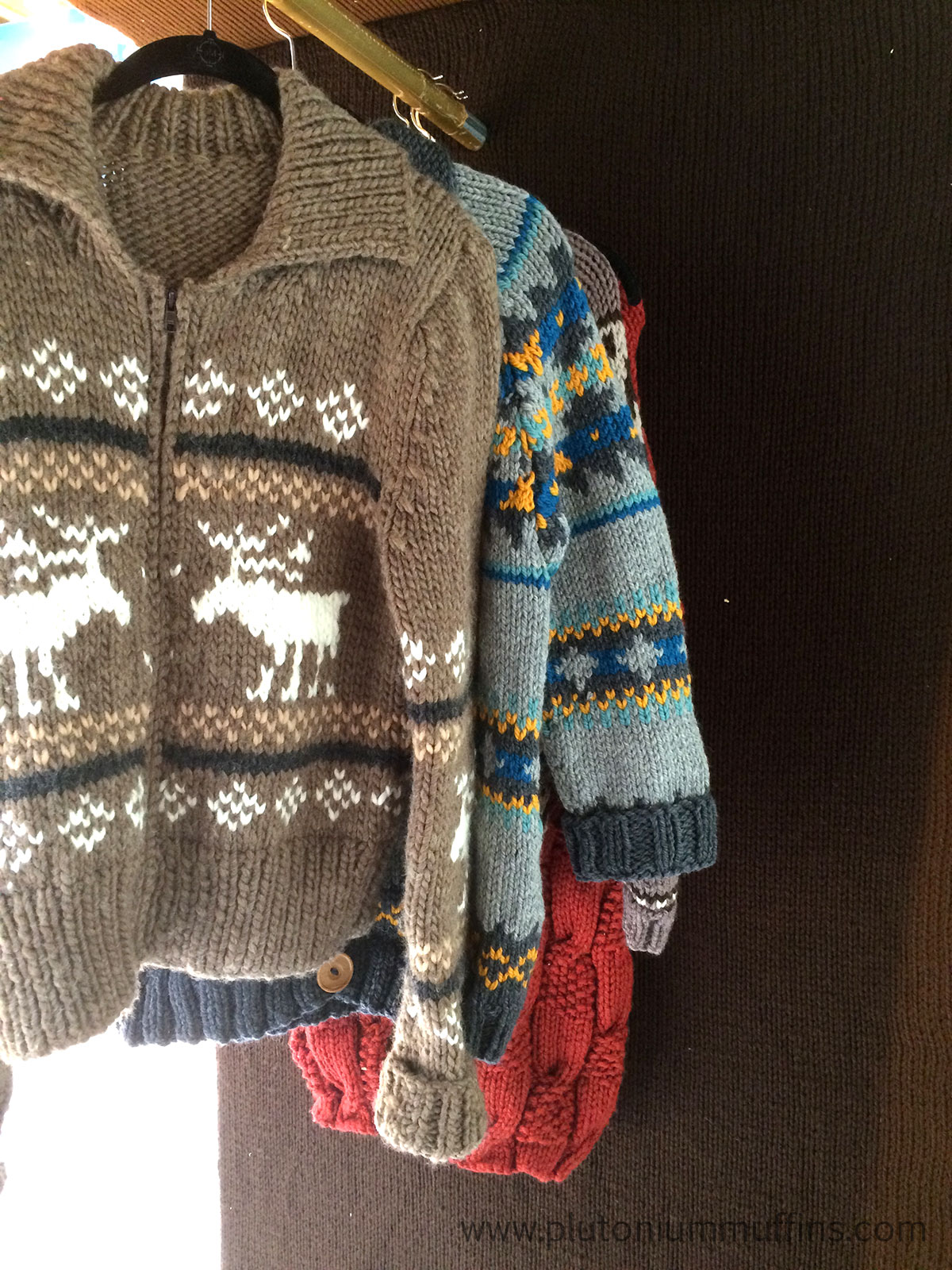 More beautiful jumpers - these ones in Fairisle, it was hard to get the colours right.