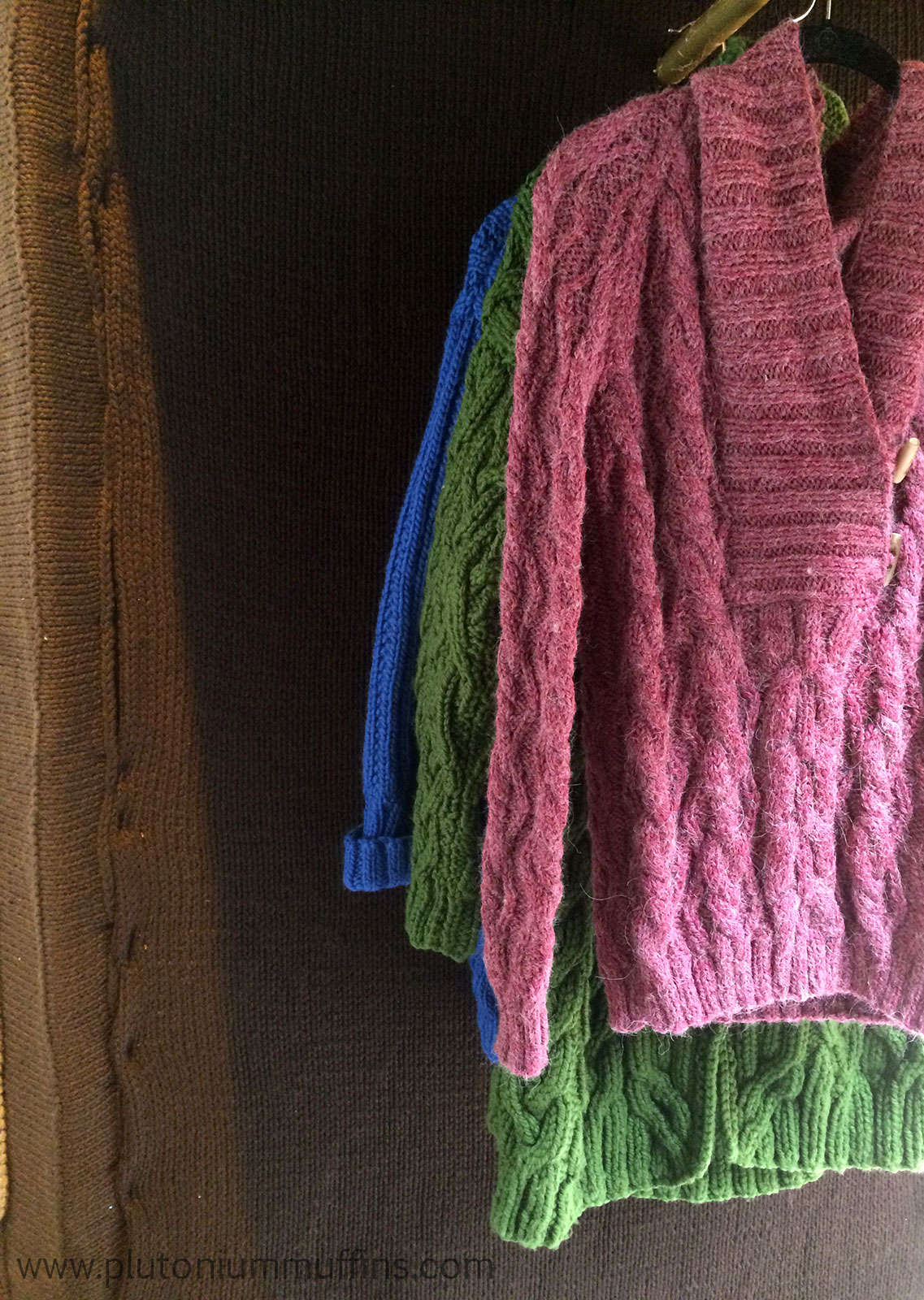 Beautiful jumpers as you go through the wardrobe.
