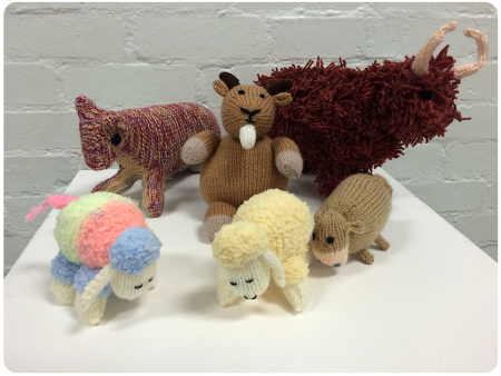Adorable yarn-producing animals! Loving the billy goat.