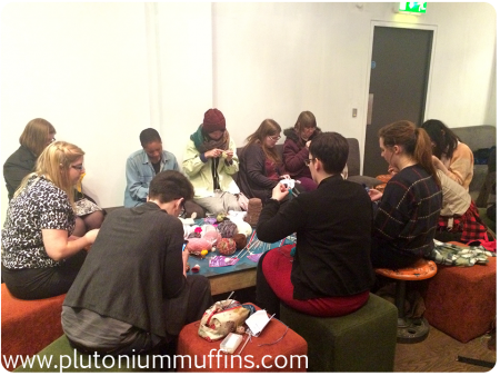 The knitting group - so popular!