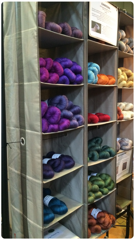 "Yarn in the ""A Knitting Swede""  booth."