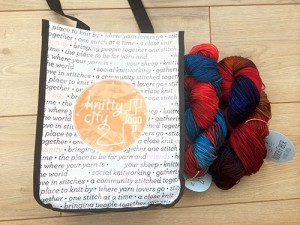 Yarn - and a new project bag, YAY.
