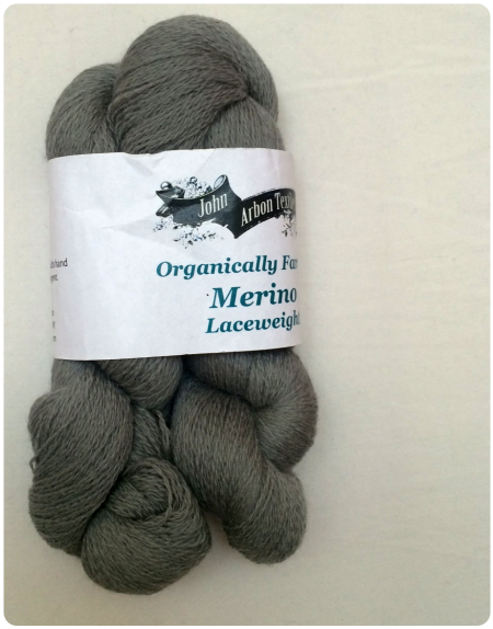 Organically Farmed Merino Laceweight in Dove Grey.