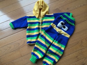 LakeLinda's amazing monster set for a baby.