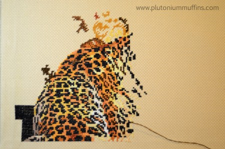 A very frustrating leopard WIP!